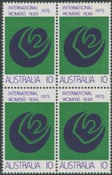 Australian Stamps 1975 SG589 10c International Women's Year block of 4